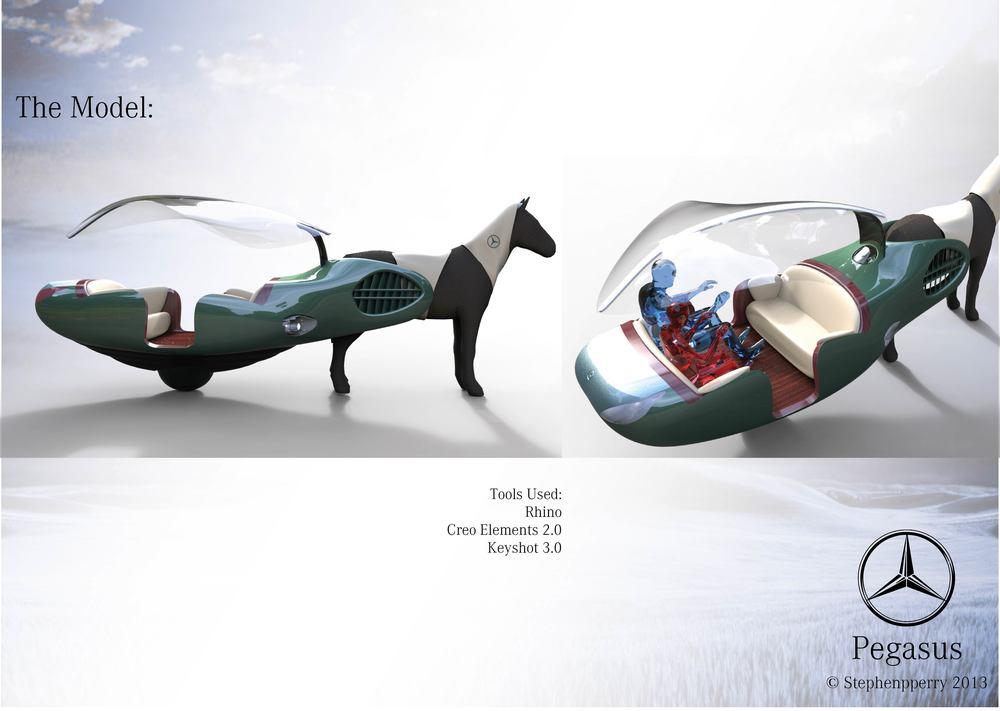08 pegasus stivenskyrah designwithlove design mercedes CAD Model Rhino CREO 2 Keyshot render