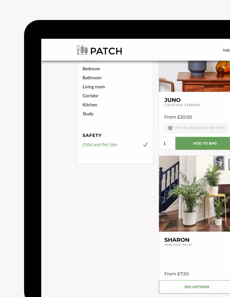 Patch - Safe plants delivered